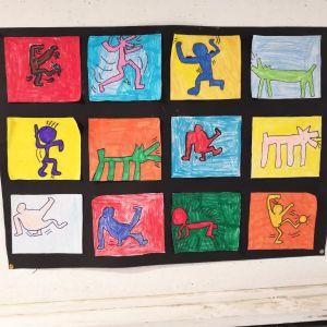 Figuren nach Keith Haring