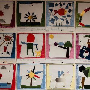 Collagen nach Henri Matisse (Die Schnecke)
