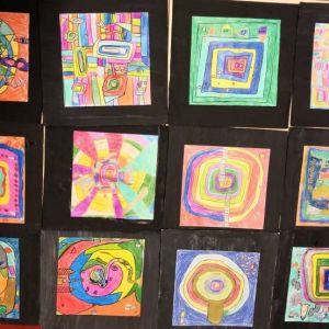 Spiralen - angelehnt an Friedrich Hundertwasser