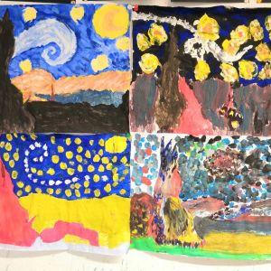 Sternennacht nach Vincent van Gogh